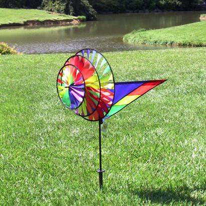 Rainbow triple wind spinner for Wind garden by premier designs