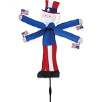 Uncle Sam Whirligig Wind Spinner Small