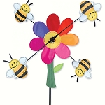 Bumble Bees Whirligig Wind Spinner