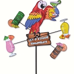 Island Parrot Whirligig Wind Spinner Small