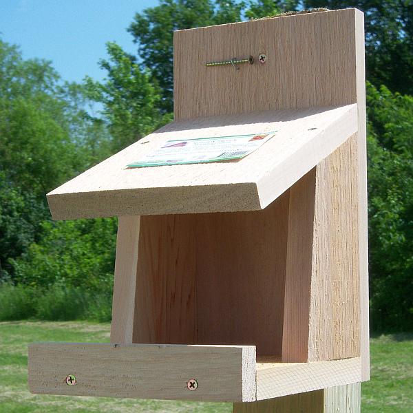 Robins Roost Nesting Platform Quality Cedar Shelf