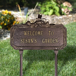 Dragonfly Personalized Garden Plaque