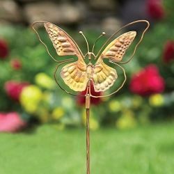 Flamed Copper Butterfly Spinner Stake Large