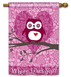 Who Loves You? Double Sided House Flag