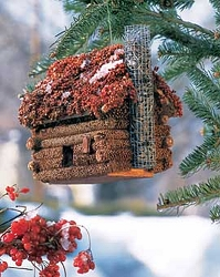 Log Cabin Mini Edible Birdhouse