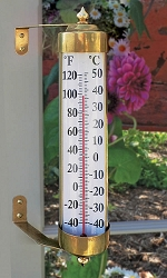Vermont Grande View Thermometer Brass