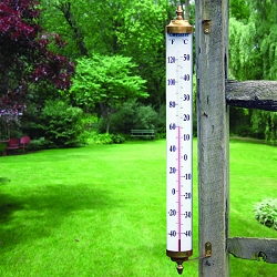 Vermont Grande View Thermometer Living Finish Brass 24