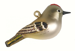 Cobane Studio Ruby-Crowned Kinglet Blown Glass Ornament