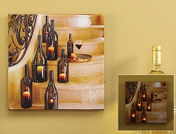 Wine Bottle Design LED Wall Art Print