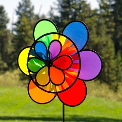 Rainbow Triple Flower Wheel Combo Spinner