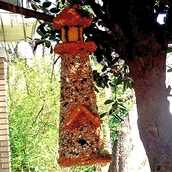 Lighthouse Edible Birdhouse Orange