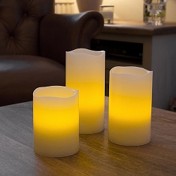 LED Vanilla Scented Flameless Wax Candle Gift Box Set of 3