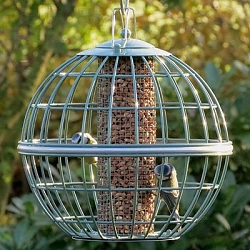 Nuttery Globe Caged Peanut and Sunflower Feeder