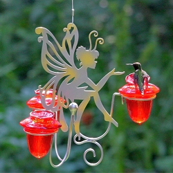 Avant Garden Fairy Dust Glass Hummingbird Feeder
