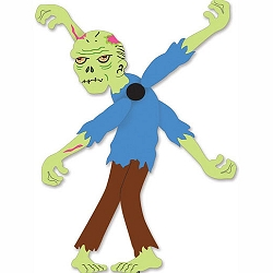 Zombie Whirligig Wind Spinner Large