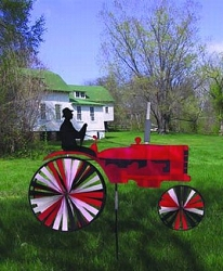 Old Farm Tractor Spinner Large Red