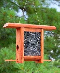 Chickadee Pinecone Teahouse Feeder