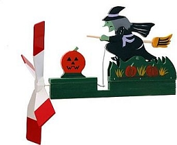 Classic Halloween Witch Whirligig