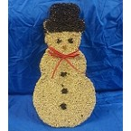 Snowman with Red Bow Cookie Bird Seed Ornament Set of 2