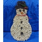 Safflower Snowman Bird Seed Ornament Set of 2