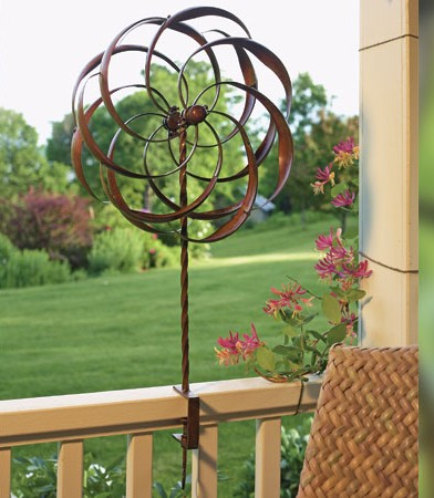 Flower Deck Mount Wind Spinner