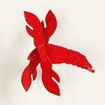 Classic Flying Lobster Whirligig