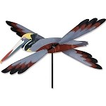 Brown Pelican Whirligig Wind Spinner Large