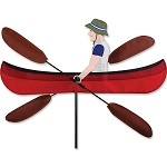 Canoe Whirligig Wind Spinner Large