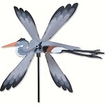Great Blue Heron Whirligig Wind Spinner