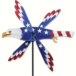 Patriotic Eagle Whirligig Wind Spinner