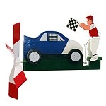 Classic Race Car Whirligig