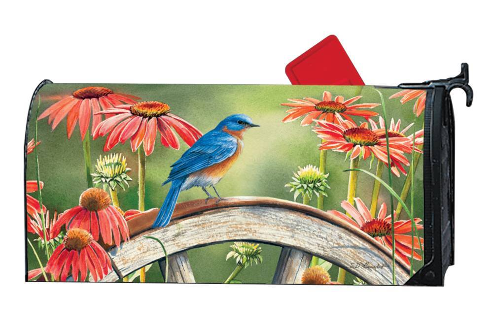Bluebird Visit Mailwrap Magnetic Mailbox Cover
