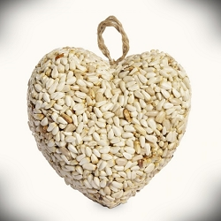 Love Heart Bird Seed Ornament Set of 24