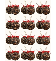 Seed and Nut Ornament Balls 15 oz. 24/Pack