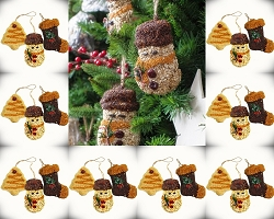 Christmas Shapes Bird Seed Ornament Set of 24