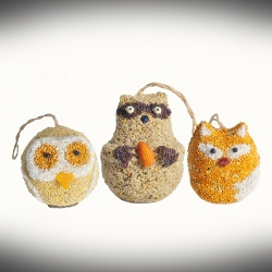 Woodland Friends Bird Seed Ornament Set of 18