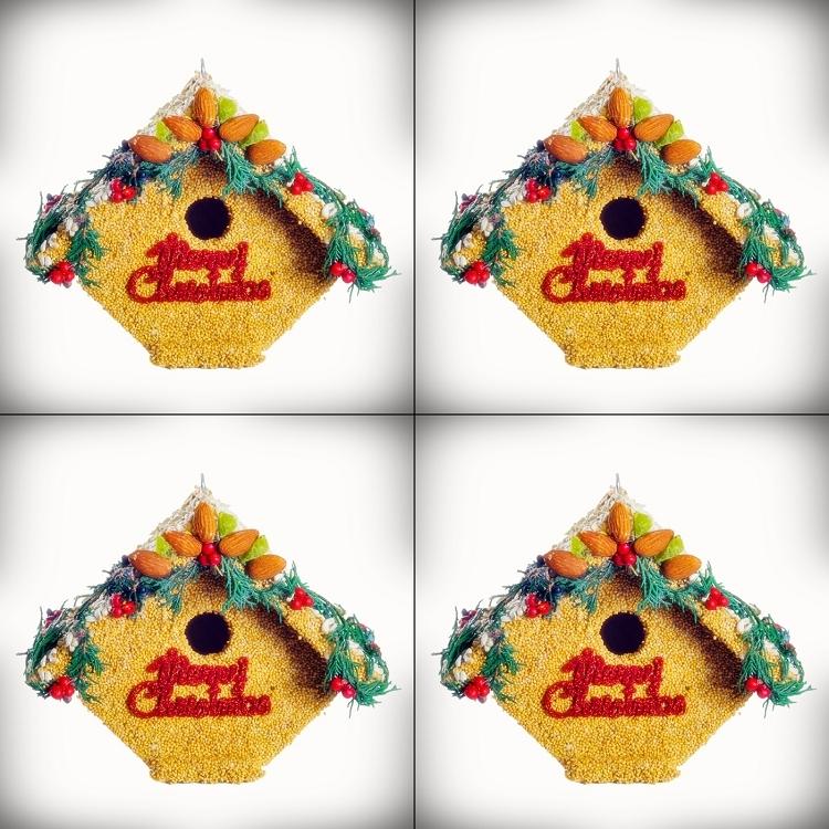 Christmas Birdhouses.Juniper Casita Merry Christmas Birdhouse 4 Pack