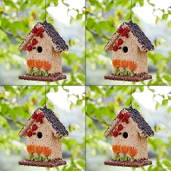 Spring Fruit Bed & Breakfast Edible Birdhouse 4-Pack