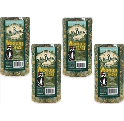 Woodpecker Feast Small Seed Cylinder 30 oz. 4-Pack