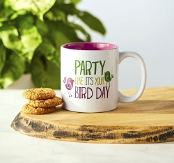 Bird Nerd Bird Day Ceramic Coffee Mug Set of 2