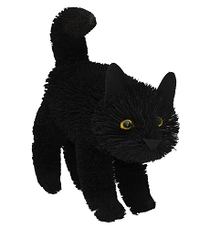 Brushart Black Cat Standing 12