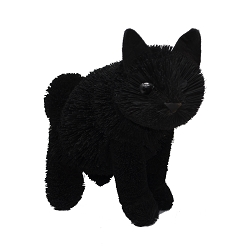 Brushart Black Cat Sitting 16