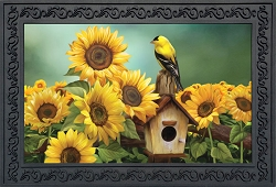 Briarwood Lane Goldfinch and Sunflowers Doormat