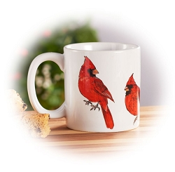 Field Guide Northern Cardinal Ceramic Coffee Mug Set of 2