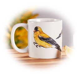 Field Guide American Goldfinch Ceramic Coffee Mug Set of 2