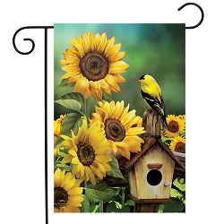 Briarwood Lane Goldfinch and Sunflowers Garden Flag