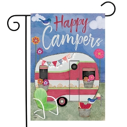 Briarwood Lane Camping Weather Garden Flag