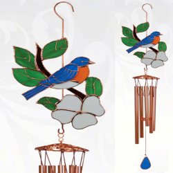 Stained Glass Wind Chimes Large 40 Inch