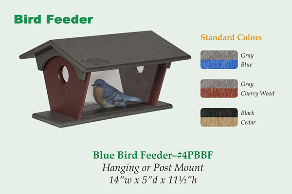 Amish Recycled Poly Bluebird Feeder