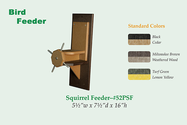 Amish Recycled Poly Squirrel Cob Feeder